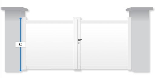 conseils la prise des cotes pour un portail aluminium battant. Black Bedroom Furniture Sets. Home Design Ideas
