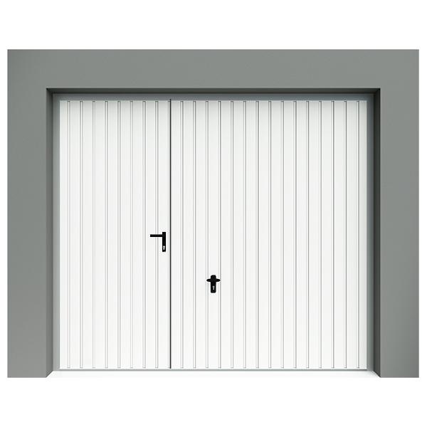 Porte De Garage Basculante à Rainures Verticales Avec Portillon - Porte de garage basculante avec portillon