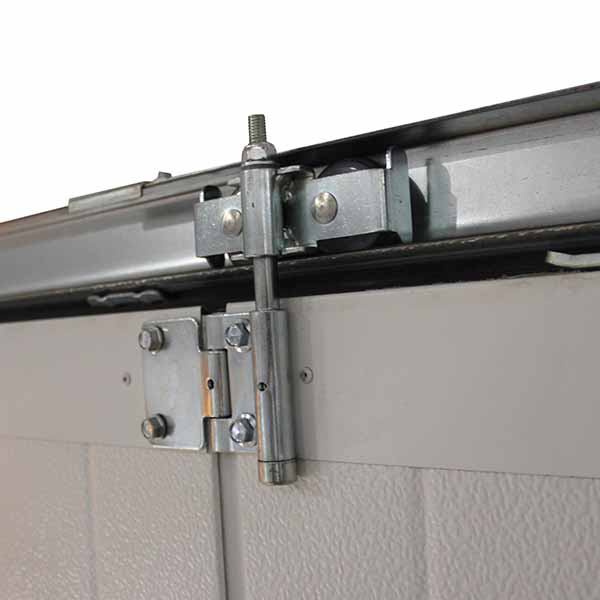 Porte de garage lat rale motoris e rainures veines de bois motoris e porte lat rale standard - Galet porte de garage ...