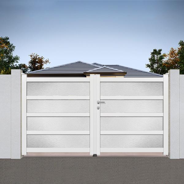 Portail aluminium md02 b portail aluminium battant modern for Portail aluminium battant 350