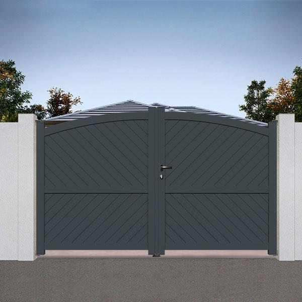 portail aluminium battant bomb plein foug re ba5 portail battant. Black Bedroom Furniture Sets. Home Design Ideas