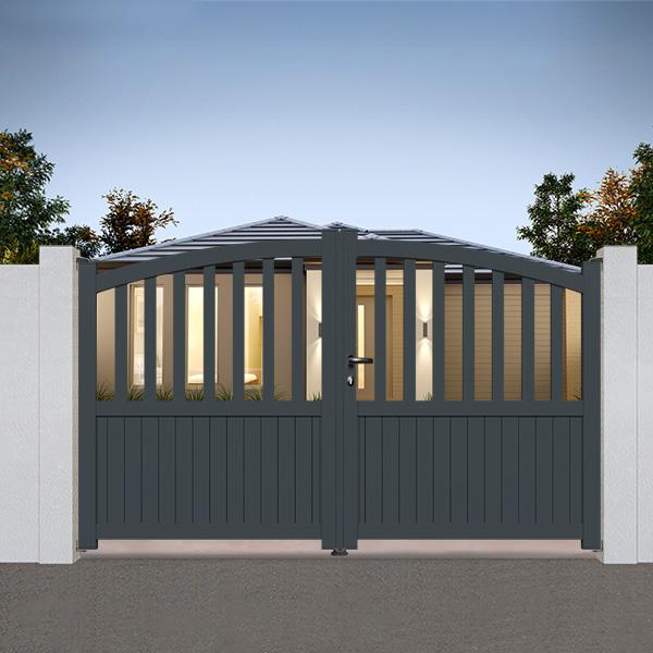 portail aluminium bomb semi ajour bomb cl02 portail battant. Black Bedroom Furniture Sets. Home Design Ideas
