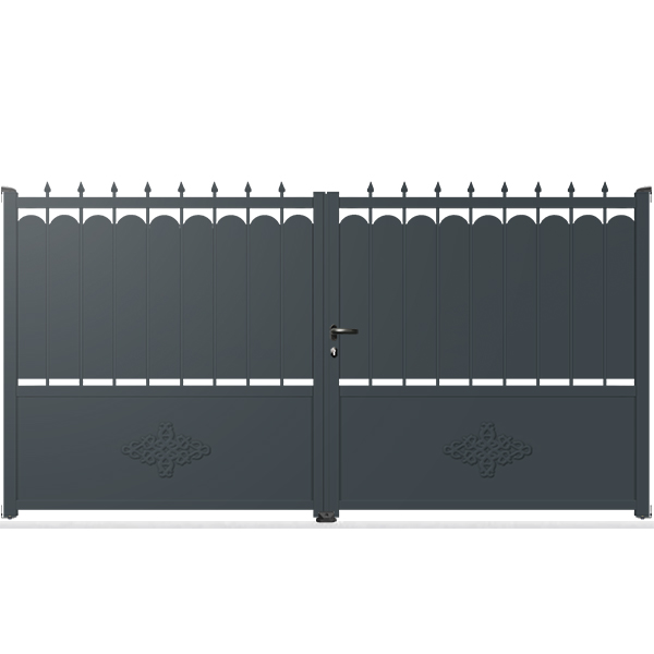 portail aluminium battant fer forg tr03 a portail aluminium battant tradition. Black Bedroom Furniture Sets. Home Design Ideas