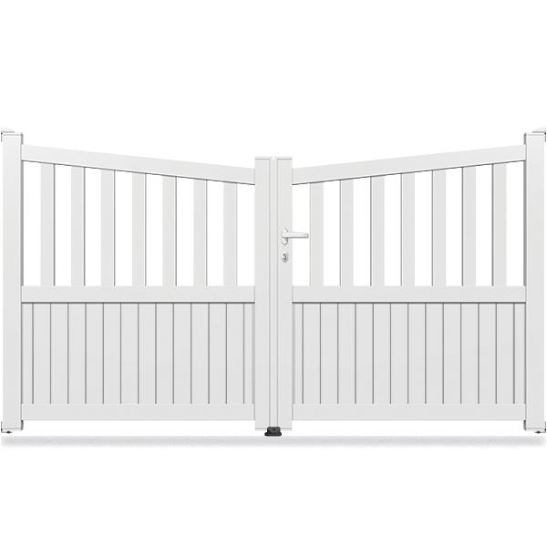 portail aluminium biais semi ajour ba11 portail battant. Black Bedroom Furniture Sets. Home Design Ideas
