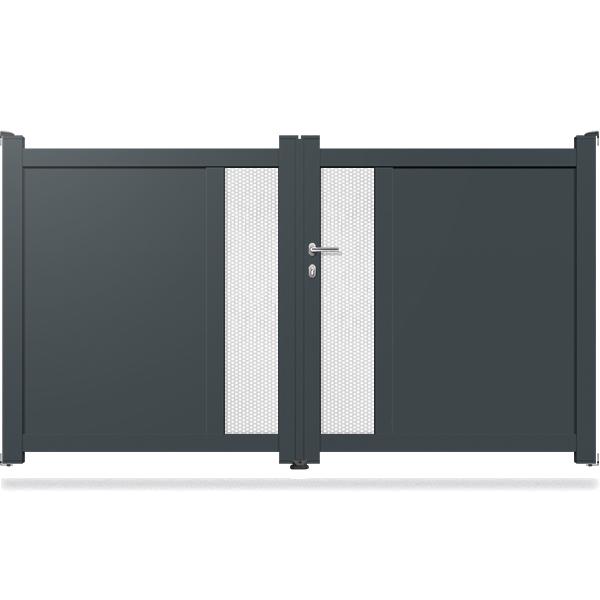 Promotion portail aluminium free portail battant aluminium turin extrieur with promotion Portail aluminium battant
