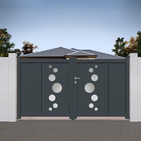 Portail aluminium battant design ds02 portail aluminium for Portail de jardin aluminium