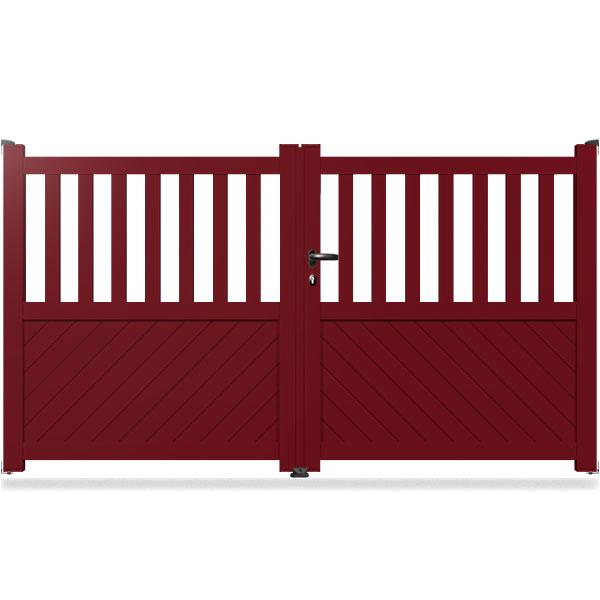 portail aluminium battant semi ajour ba4 portail battant. Black Bedroom Furniture Sets. Home Design Ideas
