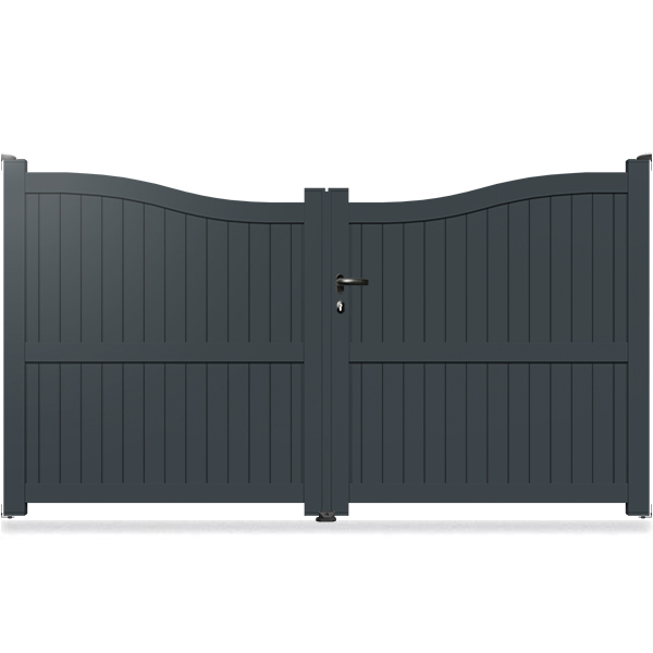 top portail aluminium chapeau de gendarme invers ba with portail direct usine. Black Bedroom Furniture Sets. Home Design Ideas