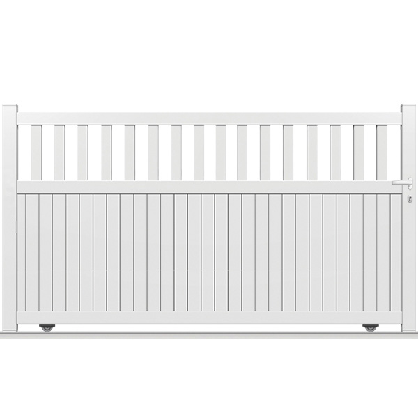 Portail blanc portail en pvc fabrication blanc de m for Portail alu coulissant blanc