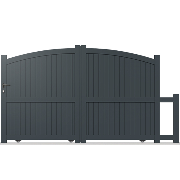 portail aluminium coulissant bomb plein cl06 portail coulissant. Black Bedroom Furniture Sets. Home Design Ideas