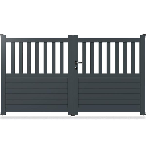 portail aluminium droit cl09 portail aluminium battant classic. Black Bedroom Furniture Sets. Home Design Ideas