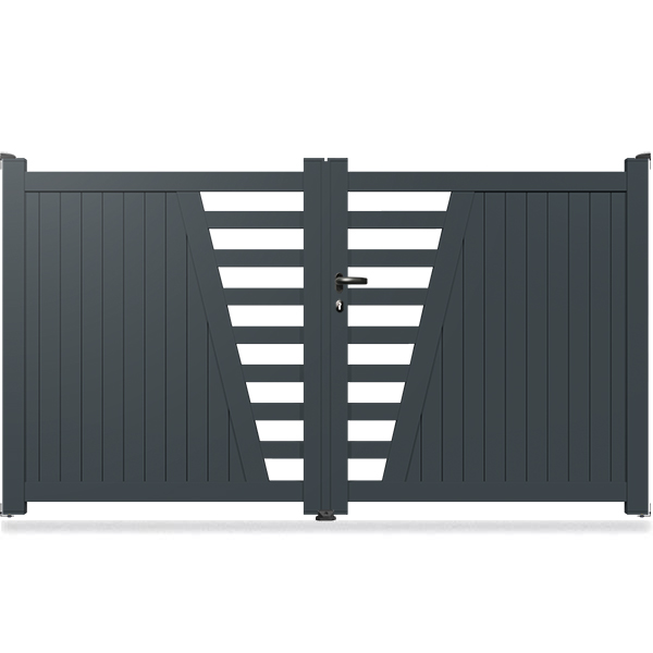 portail aluminium droit semi ajour sm02 portail aluminium battant. Black Bedroom Furniture Sets. Home Design Ideas