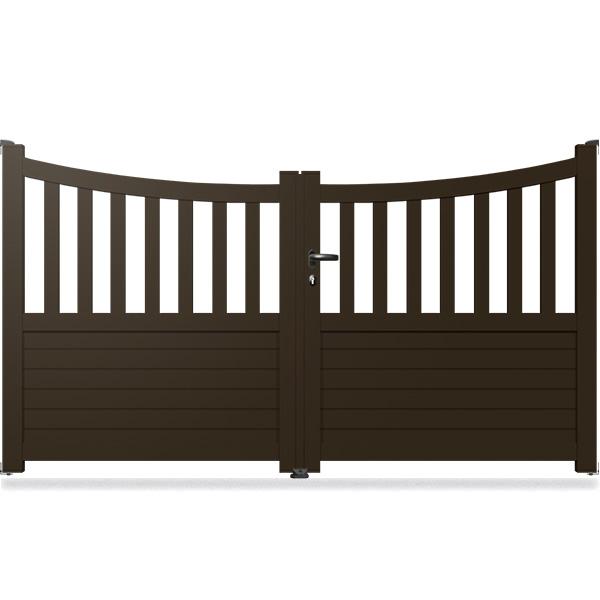 portail aluminium incurv semi ajour cl18 portail battant. Black Bedroom Furniture Sets. Home Design Ideas