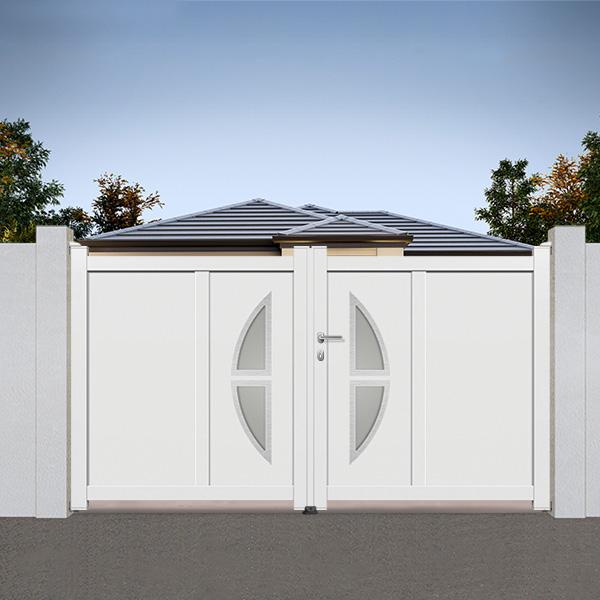 Portail aluminium battant design ds16 portail aluminium - Portail aluminium battant ...