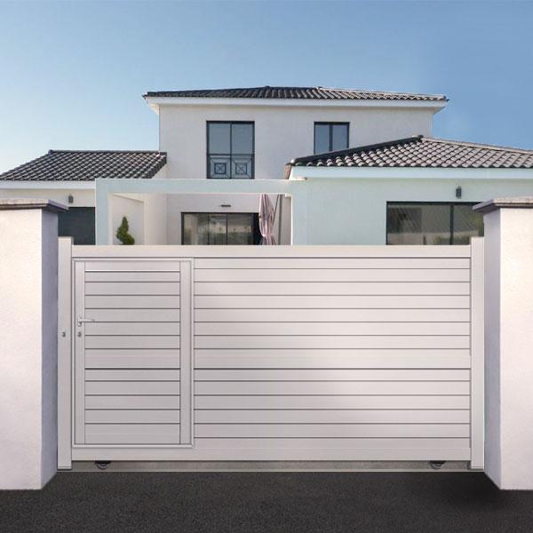 portail aluminium coulissant avec portillon int gr cl22. Black Bedroom Furniture Sets. Home Design Ideas
