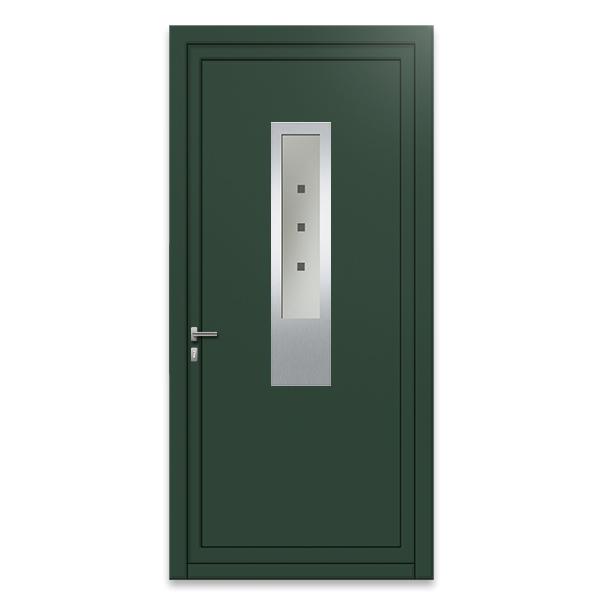 Porte d 39 entr e aluminium monobloque 75 mm xg2 porte for Porte entree isolee