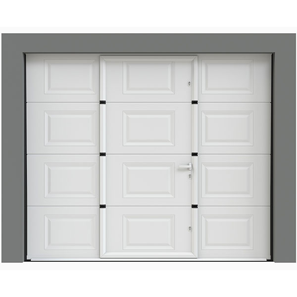 Porte de garage avec portillon casssettes porte for Porte de garage sectionnelle 220 x 200