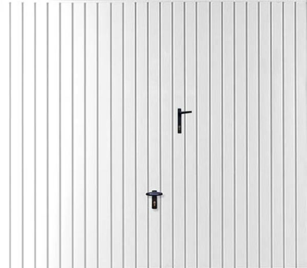 Porte De Garage Basculante Blanche Avec Portillon Intégré Destockage - Porte de garage basculante avec portillon