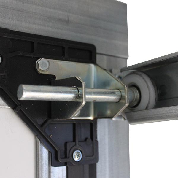 Porte de garage basculante avec portillon motoris e rainures larges verticales porte - Porte garage basculante avec portillon ...