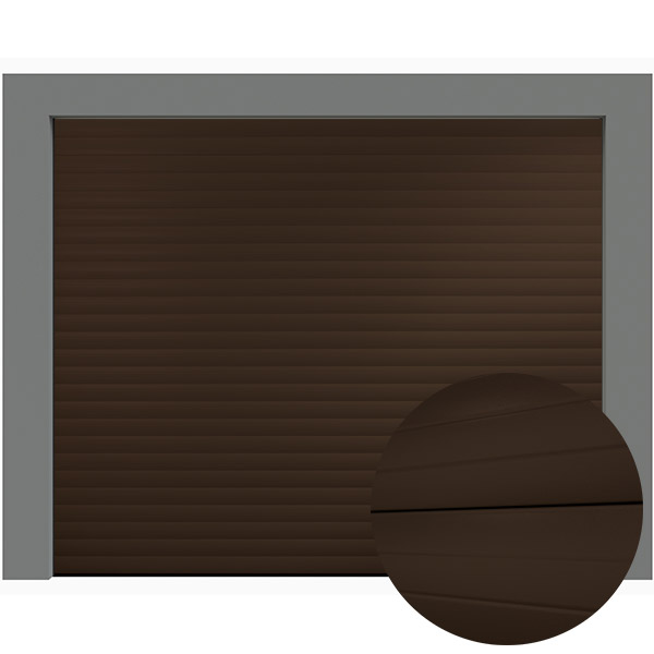 Porte de garage enroulable 240 x 200 ral 8014 porte for Porte de garage neo10
