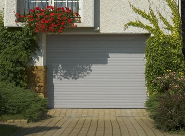 porte de garage enroulable 240 x 200 ral 9006 porte enroulable standard. Black Bedroom Furniture Sets. Home Design Ideas