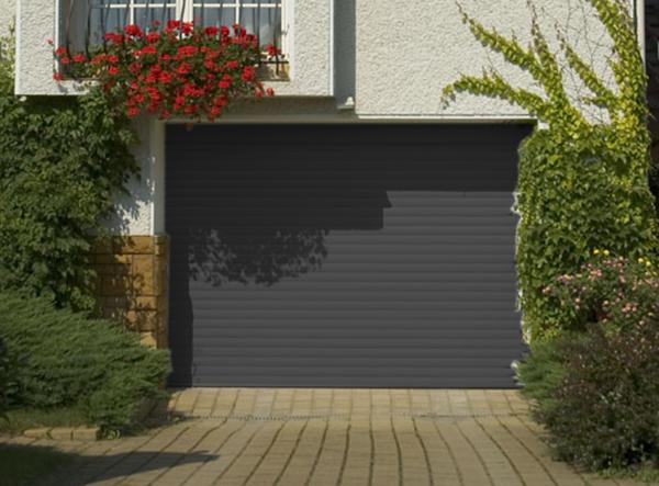 Porte de garage enroulable 240 x 200 couleur ral 7016 for Volet de garage enroulable
