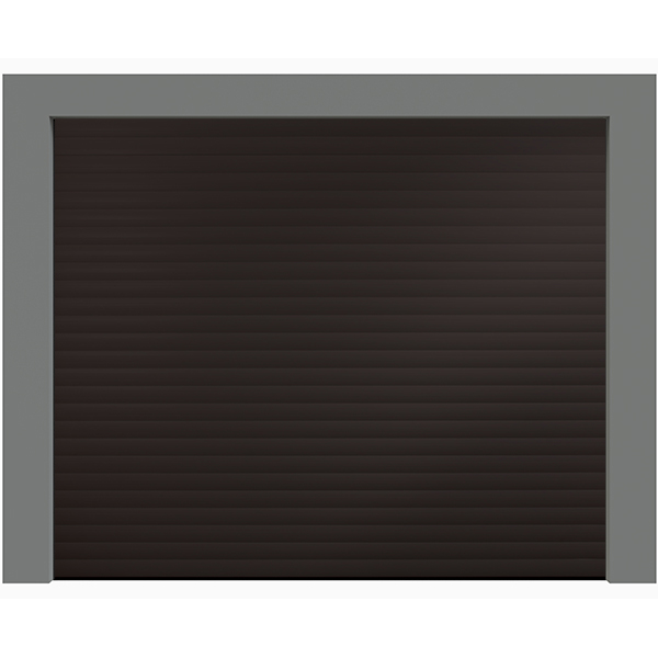 Porte de garage enroulable aluminium 240 x 200 marron ral - Porte de garage sectionnelle 300 x 200 ...