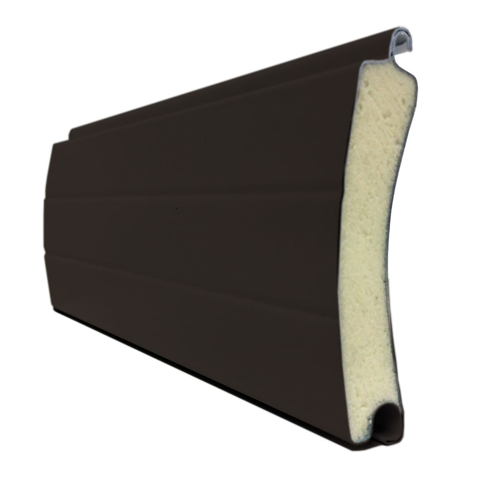 porte de garage enroulable aluminium 240 x 200 marron ral. Black Bedroom Furniture Sets. Home Design Ideas