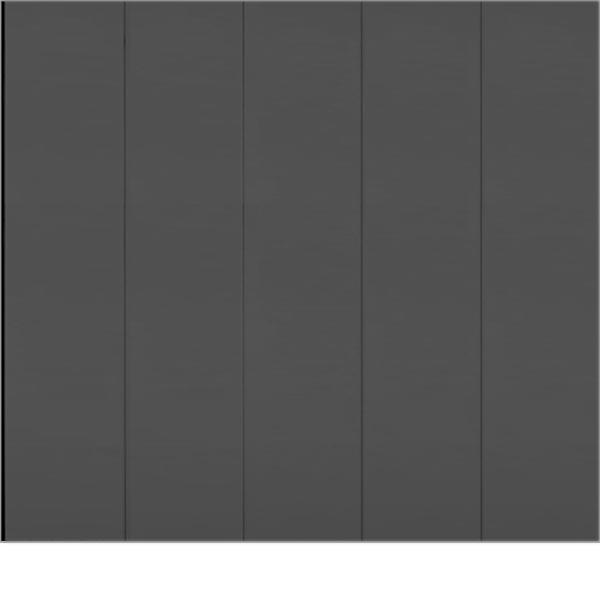 Porte de garage coulissante lat rale lisse ral 7016 - Porte de garage coulissante laterale motorisee ...