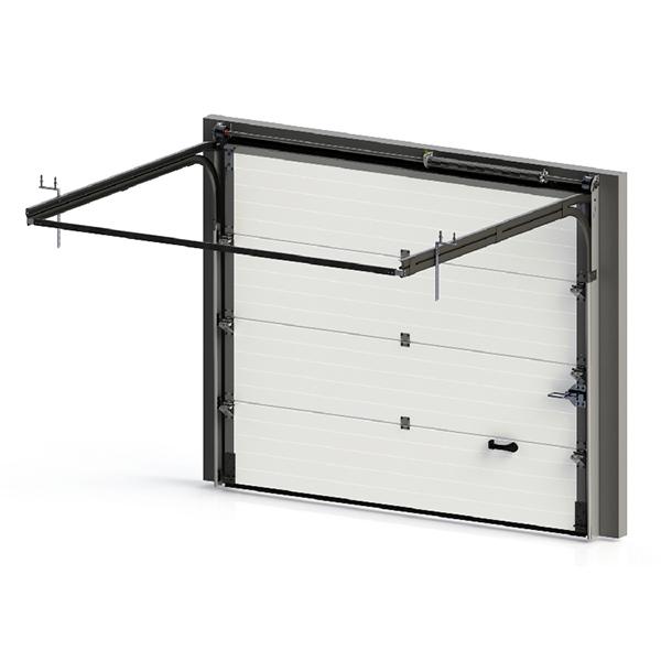 porte de garage sectionnelle lisse grise porte sectionnelle standard. Black Bedroom Furniture Sets. Home Design Ideas
