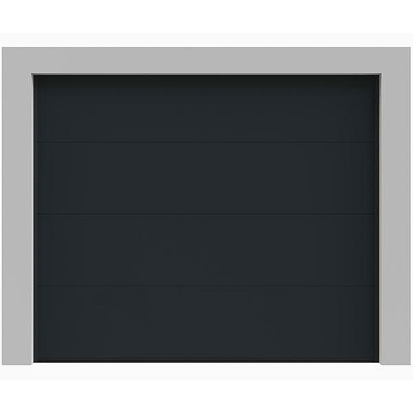 Porte de garage sectionnelle lisse grise porte sectionnelle - Porte sectionnelle aluminium ...