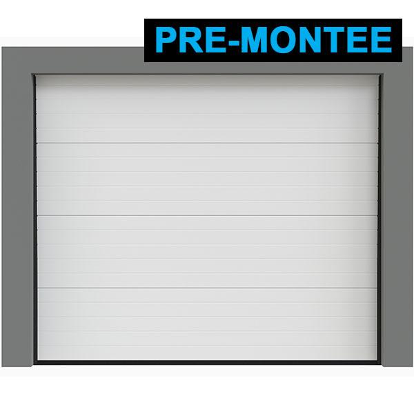 Porte de garage sectionnelle pr mont e rainures porte sectionnelle standard - Porte de garage hauteur 220 ...