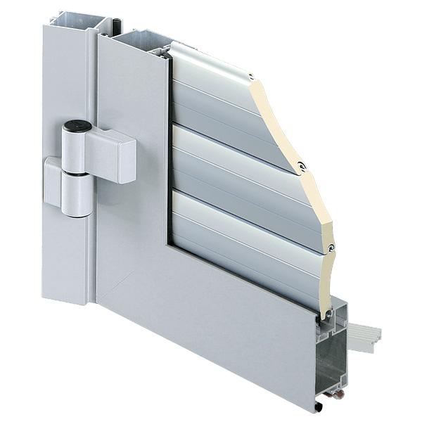 porte de service pour porte de garage enroulable aluminium lames de 77 mm porte de service. Black Bedroom Furniture Sets. Home Design Ideas