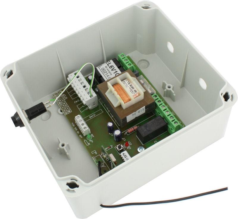 Boitier de commande de porte enroulable el6v1q porte for Moteur electrique pour porte de garage enroulable