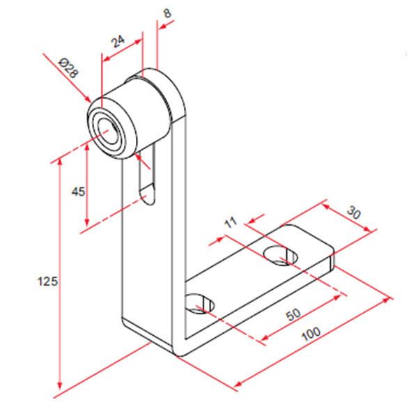 But e d 39 arr t de refoulement pour portail aluminium coulissant portail coulissant - Roue pour portail coulissant ...