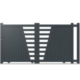 portail aluminium coulissant semi modern. Black Bedroom Furniture Sets. Home Design Ideas