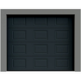 Porte de garage sectionnelle grise anthracite destockage