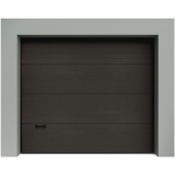 Porte de garage sectionnelle Gris 8019 Destockage