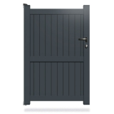 Portillon aluminium destockage gris 7016
