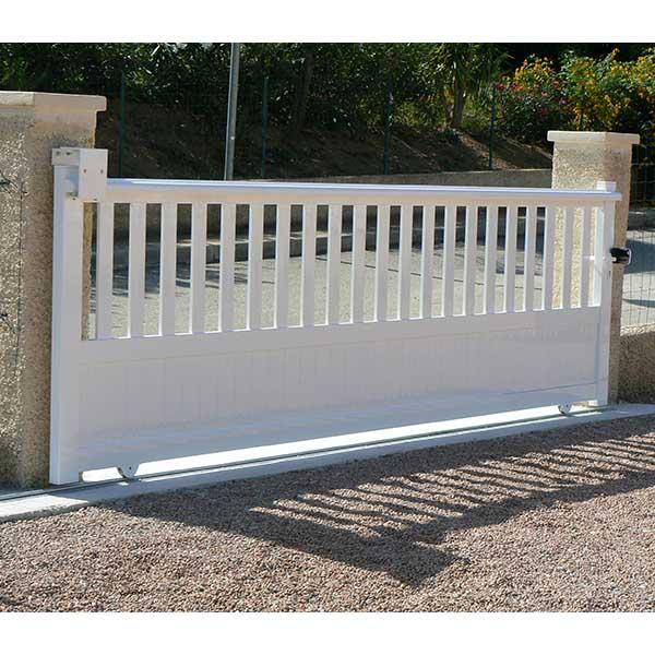 Portail aluminium coulissant promotion portail coulissant for Portail pvc marron