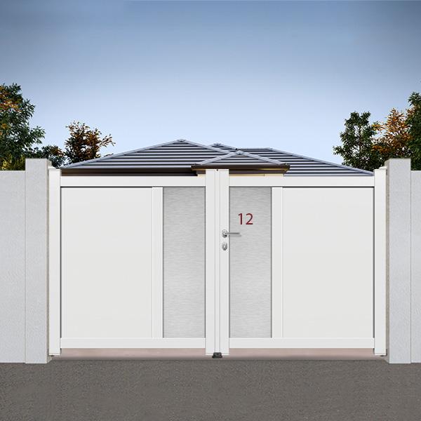 Portail aluminium battant design ds12 portail aluminium battant for Portail alu battant