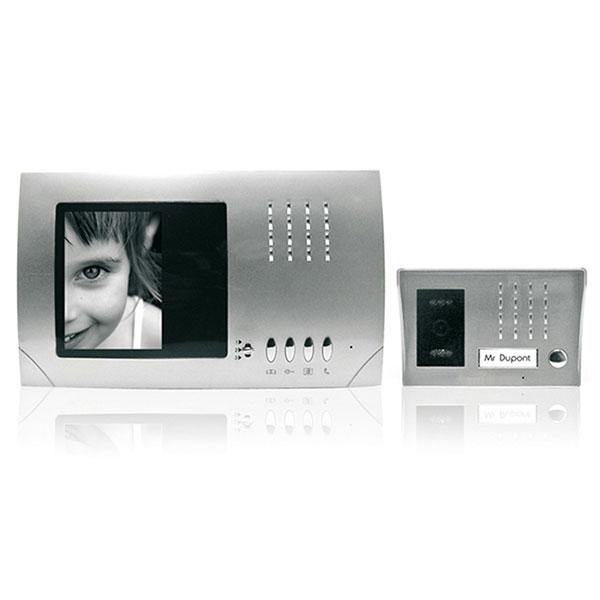 visiophone noir et blanc pour portail aluminium accessoires. Black Bedroom Furniture Sets. Home Design Ideas