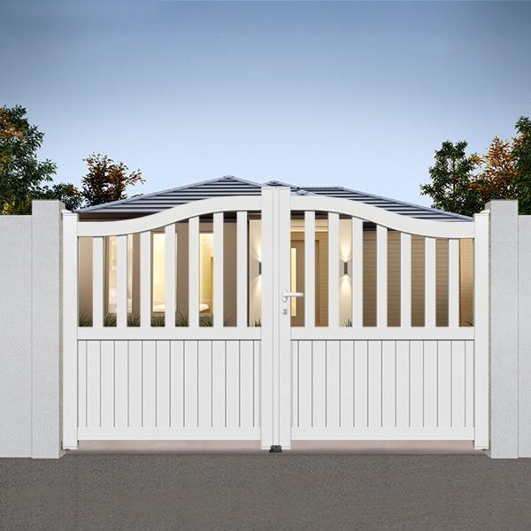 portail aluminium chapeau de gendarme promotion portail battant. Black Bedroom Furniture Sets. Home Design Ideas