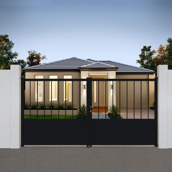 portail aluminium battant fer forg tr05 portail battant. Black Bedroom Furniture Sets. Home Design Ideas