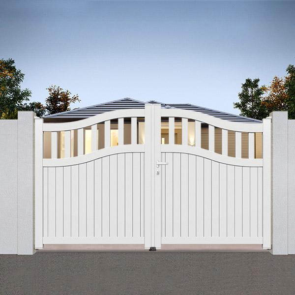 portail aluminium chapeau de gendarme sm05 portail aluminium semi modern. Black Bedroom Furniture Sets. Home Design Ideas