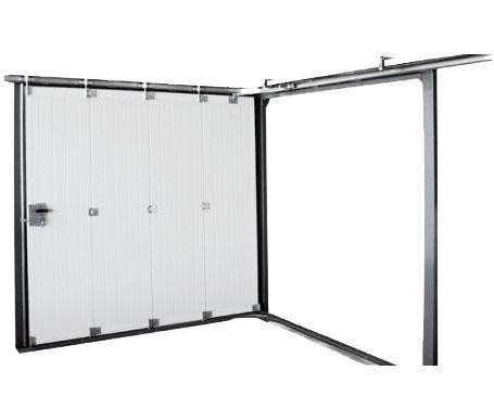 Porte de garage coulissante lat rale lisse ral 7016 porte lat rale standard - Porte sectionnelle laterale ...