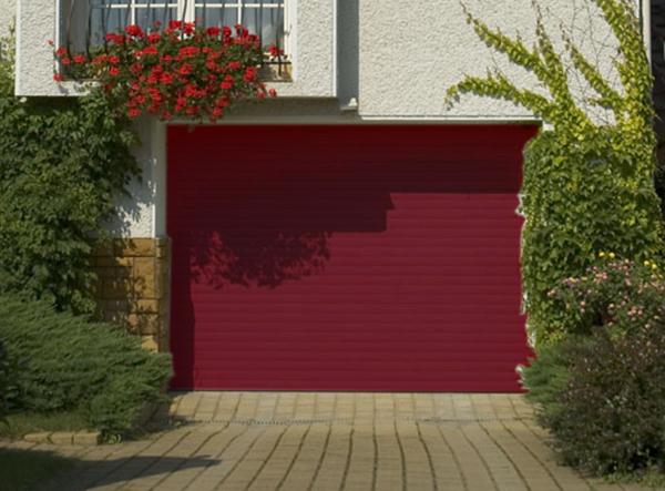 porte de garage enroulable 240 x 200 ral 3004 porte. Black Bedroom Furniture Sets. Home Design Ideas