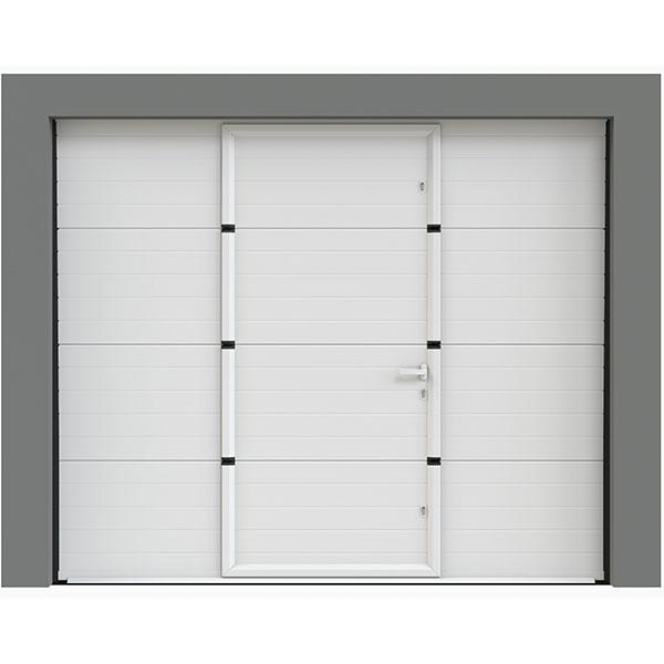 porte de garage sectionnelle avec portillon porte. Black Bedroom Furniture Sets. Home Design Ideas