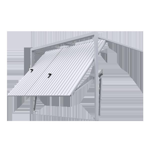 porte de garage basculante rainures verticales avec portillon porte basculante. Black Bedroom Furniture Sets. Home Design Ideas
