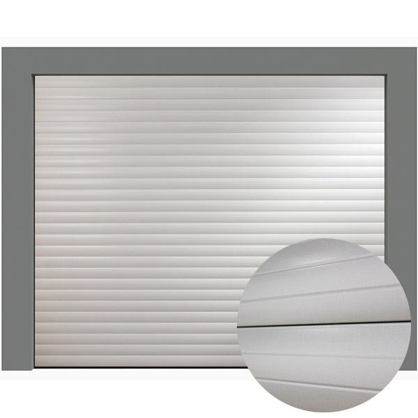 Porte de garage enroulable aluminium 240 x 200 blanche porte enroulable standard - Porte enroulable garage ...